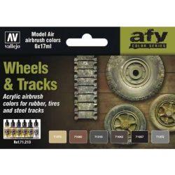 Vallejo Wheels & Tracks festék szett 71213