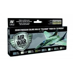 """Vallejo Model Air Paint Set - Soviet/Russian Colors MiG-29 """"Fulcrum"""" from 80's to Present - 71605"""
