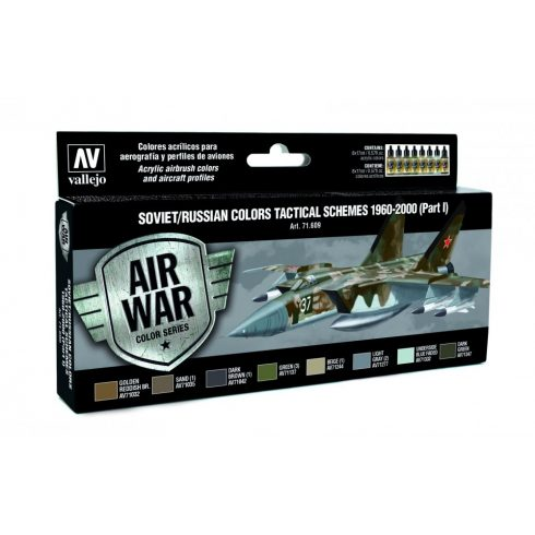 Vallejo Model Air Paint Set - Soviet Tactical Schemes 1960-2000 (Part I) - 71609