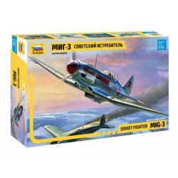 ZVEZDA Soviet Fighter Mig-3 repülőgép makett 7204