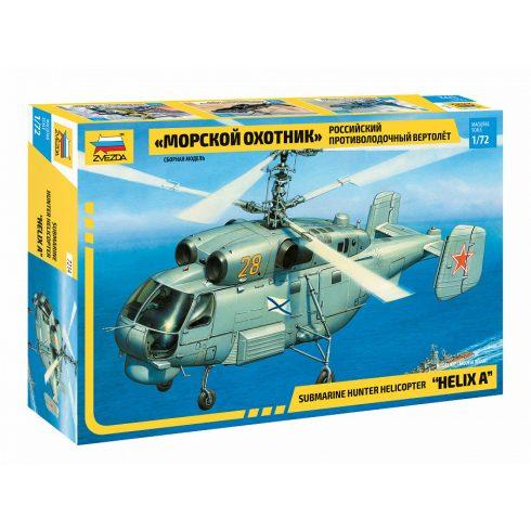 Zvezda Submarine Hunter helikopter makett 7214