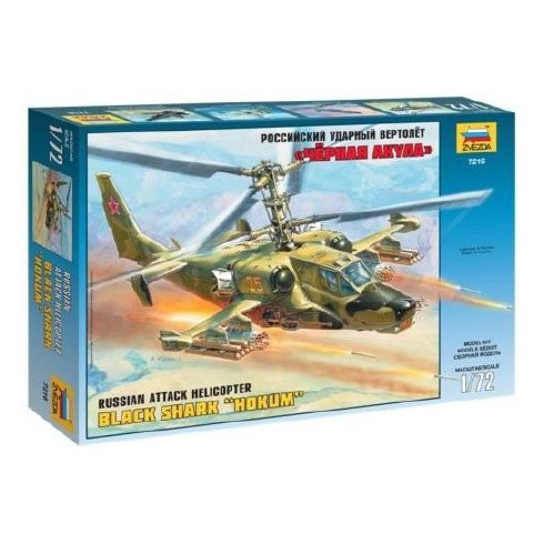 Zvezda Russian Attack Helicopter Hokum makett 7216
