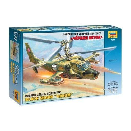 Zvezda Russian Attack Helicopter Hokum makett 7216