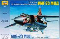 MiG-23 MLD Flogger-K repülő makett Zvezda 7218