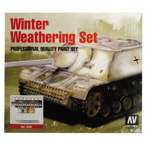 Vallejo Winter Weathering Set Téli Festést öregítő festékes szett