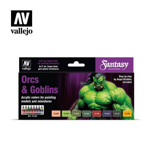 Vallejo Orcs & Goblins festék szett 72304
