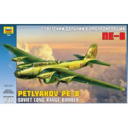 Zvezda - Petljakov Pe-8 Soviet long range bomber repülőgép makett 1:72 7264