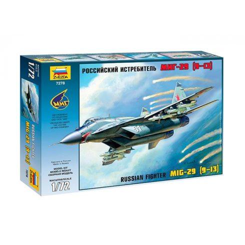 MiG 29 katonai repülő makett Zvezda 7278