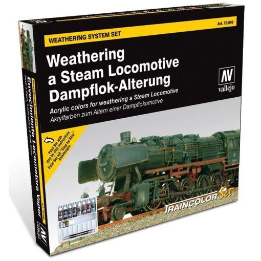 Vallejo Weathering a steam locomotive festék szett 73099