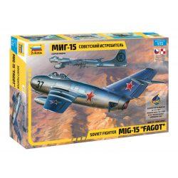 ZVEZDA Mig-15 Fagot 1:72 repülőgép makett 7317