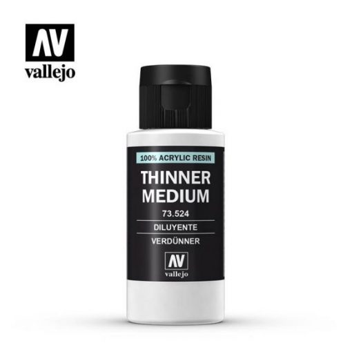Thinner Medium 60ml hígító akril festékhez vallejo 73524