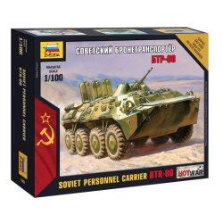 Zvezda  BTR-80 katonai jármű makett 7401