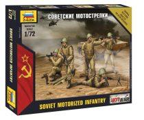 Soviet Infantry Mini kits szovjet gépiesített gyalogság figura makett Zvezda 7404