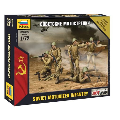 Zvezda Soviet Infantry Mini kits szovjet gépiesített gyalogság figura makett 7404