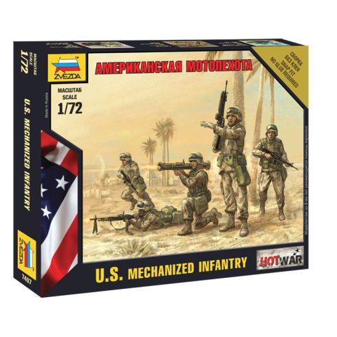 U.S. Motorized Infantry figura makett Zvezda 7407