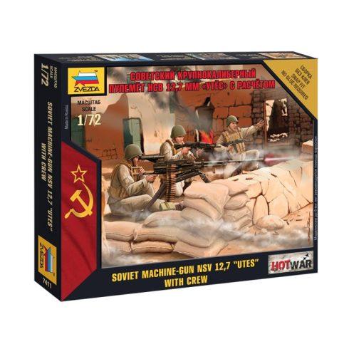 Soviet Machine-gun figura makett Zvezda 7411