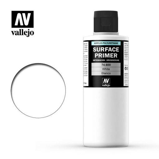 Vallejo Surface Primer White akril alapozó festék matt fehér 74600