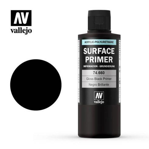 Vallejo Surface Primer Gloss Black akril alapozó festék fényes fekete 74660