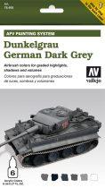 German Dark Grey AFV paint set német sötétszürke színhez festék szett vallejo 78400