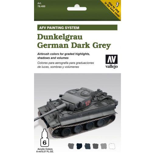 Vallejo German Dark Grey AFV paint set német sötétszürke színhez festék szett 78400
