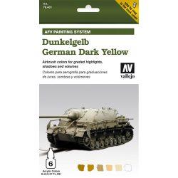 German Dark Yellow AFV paint set német sötétsárga színhez festékes szett vallejo 78401