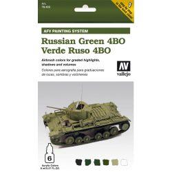 Russian Green 4BO AFV paint set orosz 4BO zöldhöz festékes szett vallejo 78403