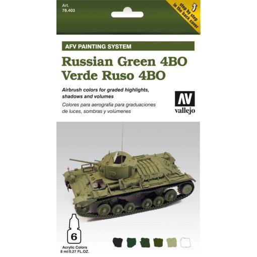 Vallejo Russian Green 4BO AFV paint set orosz 4BO zöldhöz festékes szett 78403
