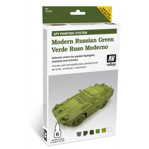 Vallejo Modern Russian Green AFV painting set 78408