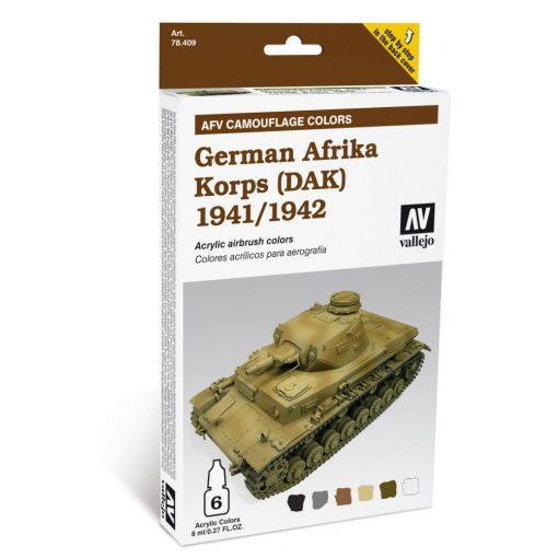 Vallejo German Apfrika Korps AFV Paimting Set (1941-42) 78409