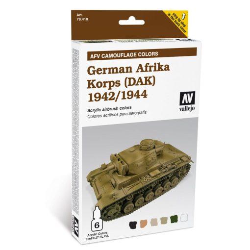 Vallejo German Afrika Korps AFV painting Set 78410