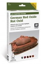 German Red Oxide AFV painting szett Vallejo 78411