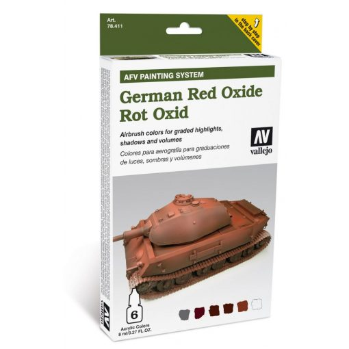 Vallejo German Red Oxide AFV painting szett 78411