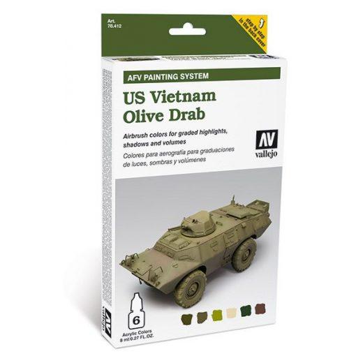 Vallejo US Vietnam Olive Drab AFV painting set 78412