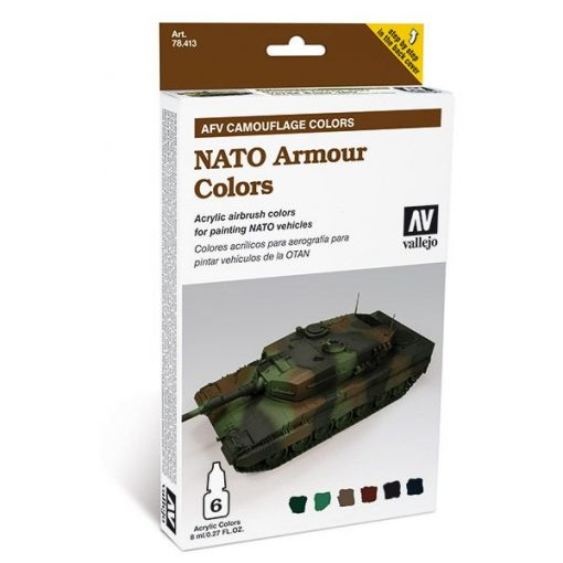 Vallejo NATO Armour Colors AFV painting set 78413