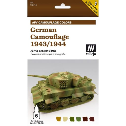 Vallejo German Camouflage 1943-1944 AFV painting Set 78414