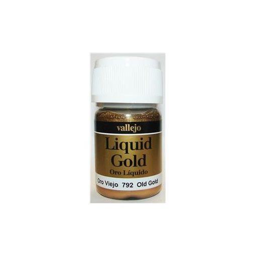 Vallejo Liquid Gold Old Gold fémpigmentes akholbázisú festék vallejo 792