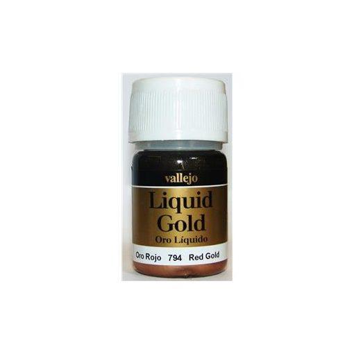 Vallejo Liquid Gold Red Gold fémpigmentes akholbázisú festék vallejo 794
