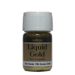 Vallejo Liquid Gold Green Gold fémpigmentes alkoholbázisú festék vallejo 795