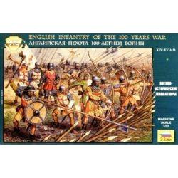 English Infantry of the 100 Years War figura makett Zvezda 8060