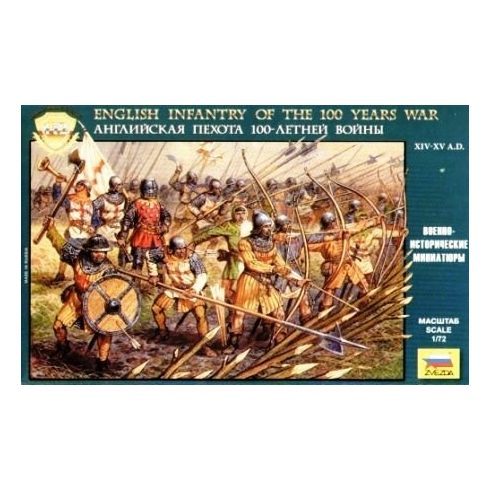 English Infantry of the 100 Years War figura makett Zvezda 8060