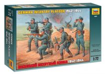 German Infantry Platoon 1942-1943 figura makett Zvezda 8078