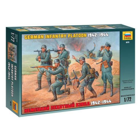 German Infantry Platoon 1942-1943 figura makett Zvezda 8078