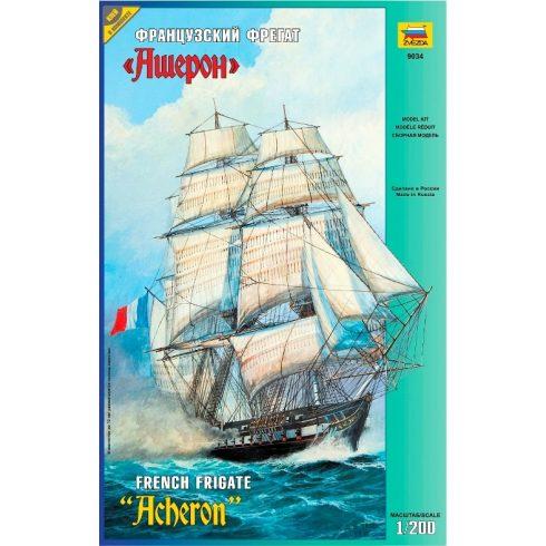 Zvezda French Frigate 'Acheron' hajó makett 9034