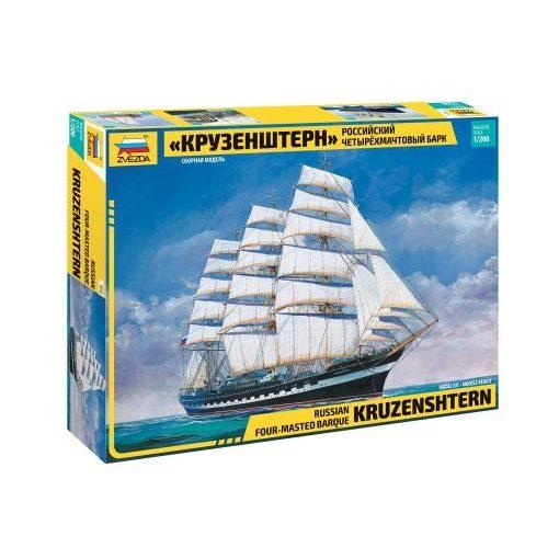 Zvezda Krusenstern Sailingship hajó makett 9045