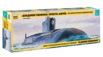 Zvezda SSBN Borey Nuc. Submarine tengeralattjáró makett 1:350 9058