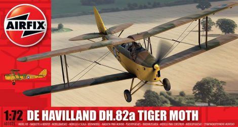Airfix DH TIGER MOTH MILITARY repülő makett A01025