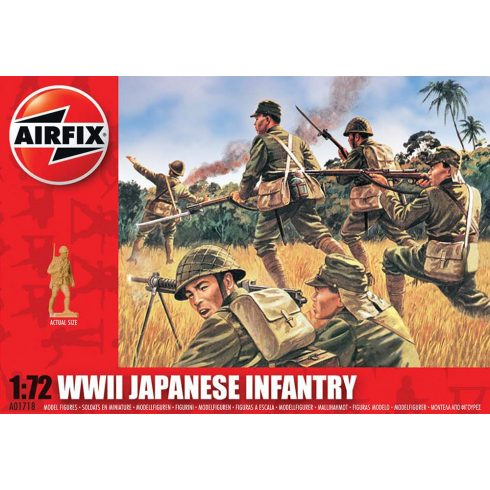 WWII Japanese Infantry figura makett Airfix A01718