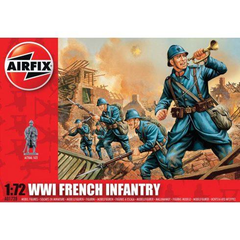WWI French Infantry figura makett Airfix A01728