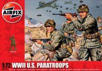 WWII U.S. Paratroops figura makett Airfix A01751