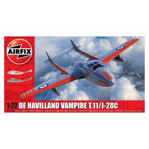 Airfix D.H. VAMPIRE T11 repülőgép makett A02058A